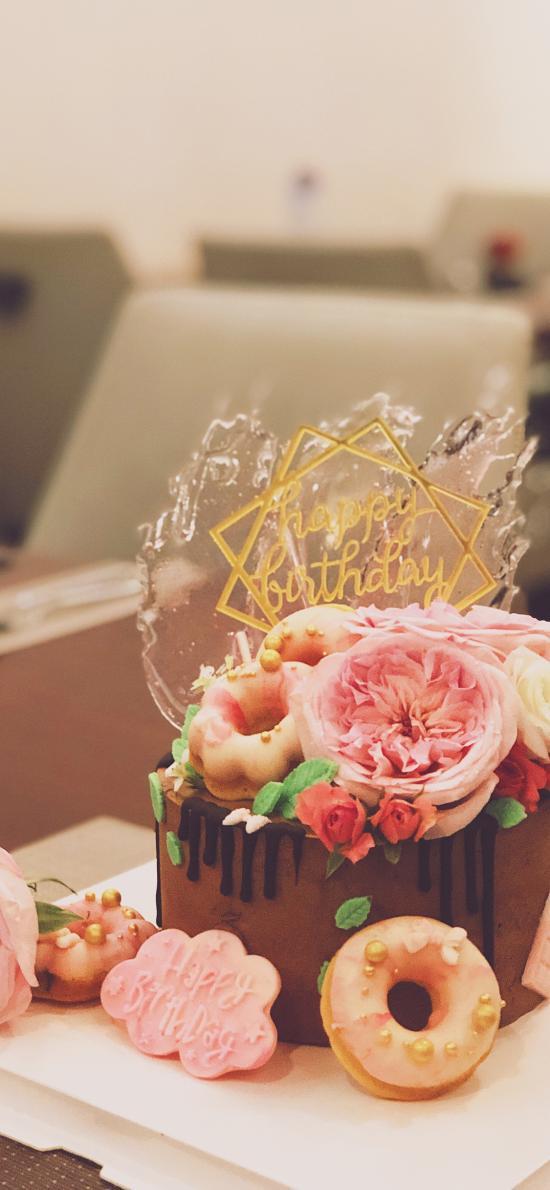 蛋糕 甜品 鮮花 甜甜圈 裝飾