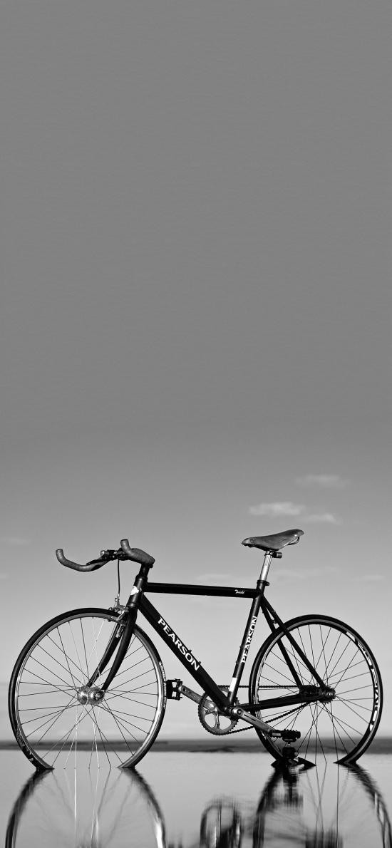 自行车 单车 黑白 山地车