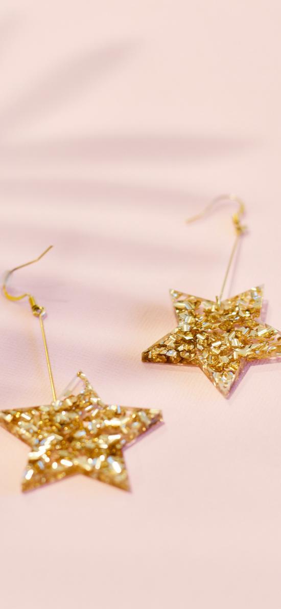 装饰 耳环 五角星 精致