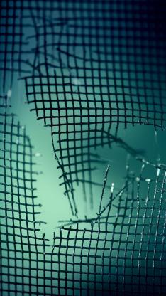铁丝网 破损 方格 尖锐