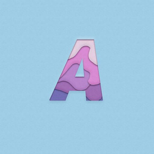 字母 简约 色彩 A