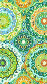 炫目 色彩 绿 迷幻 圆环