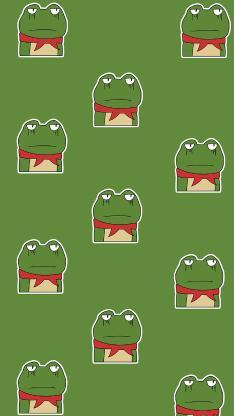 卡通 青蛙 平铺 绿色(取自微博:G195)