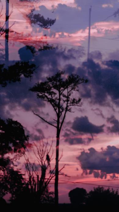 自然 美景 傍晚 云空 晚霞