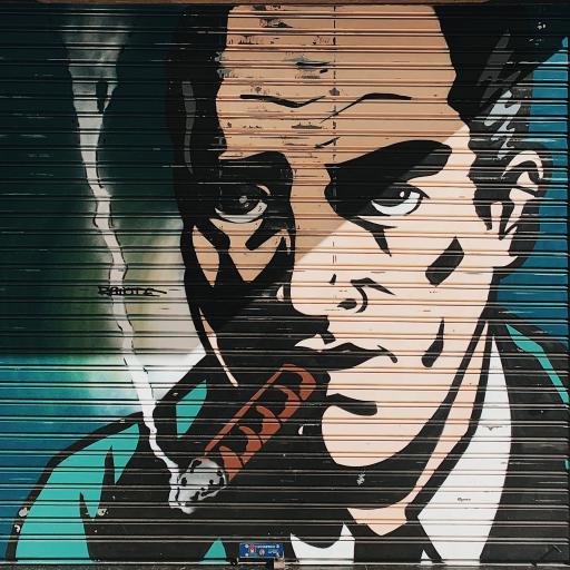 墙绘 艺术 欧美人物 雪茄 色彩