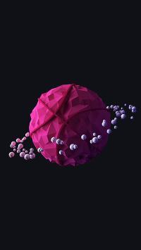 球体 立体 星星环 颗粒