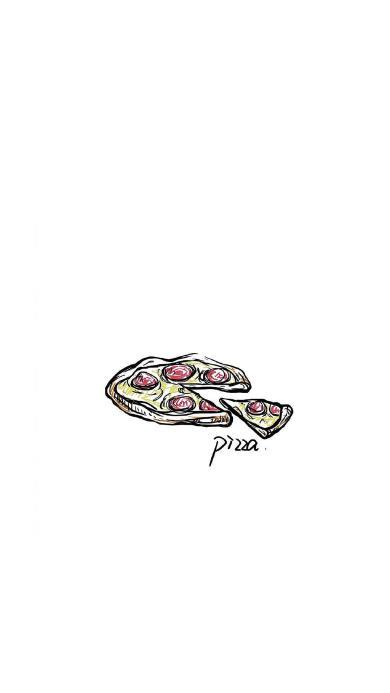 披萨 绘画 pizza  简笔画