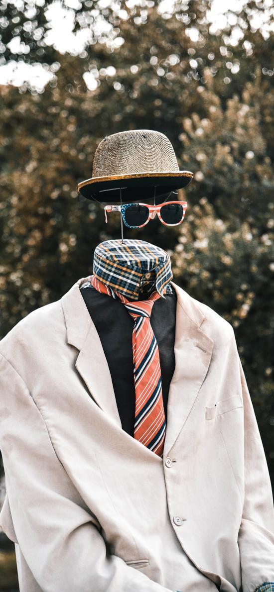 西装 领带 假人 创意