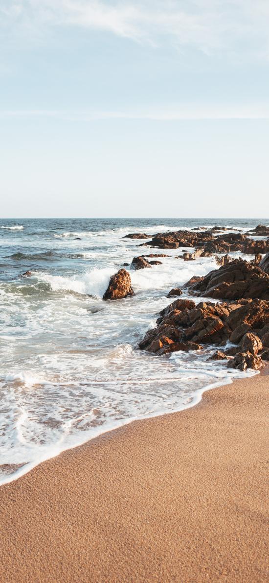 海岸 海浪 浪花 沙滩