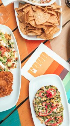 餐点 色彩 丰富 薯片