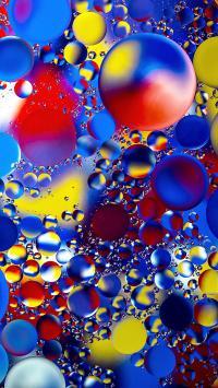气泡 密集 色彩 苹果