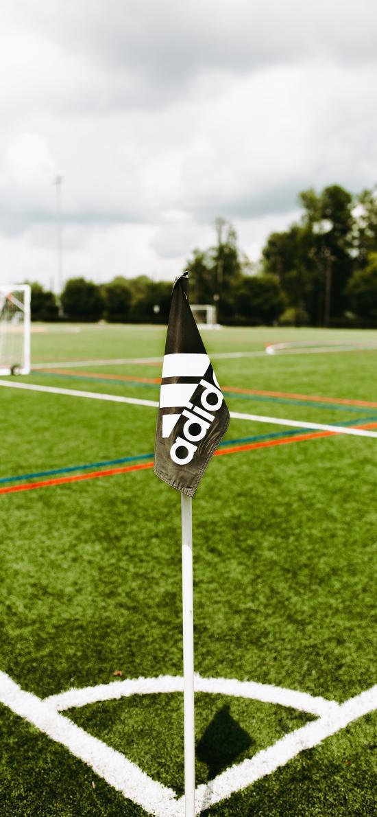 运动 球场 足球门 旗子