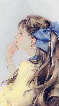 唯美 绘画 女孩 插画