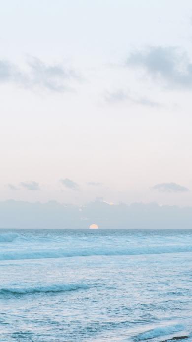 日出 海平面 大海 天空