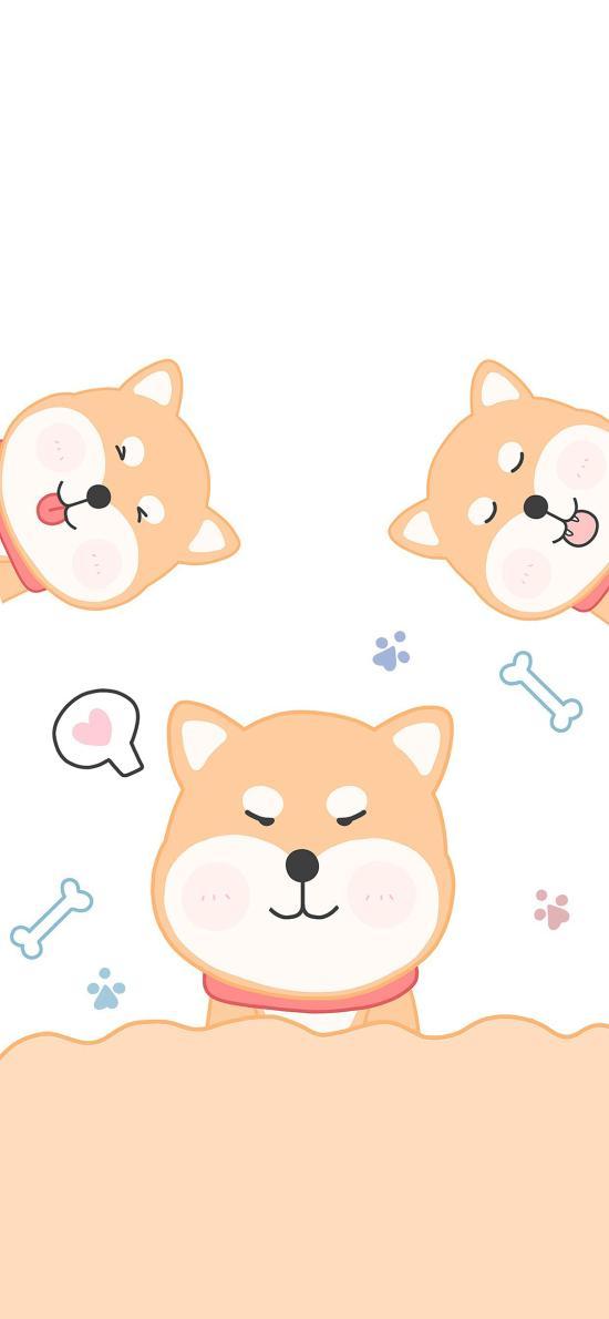 柴犬 可愛 卡通 繪畫