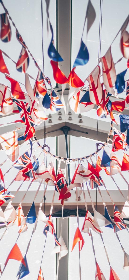英国 旗帜 象征 飘扬