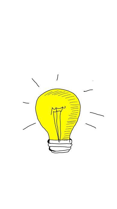 绘画 简笔画 灯泡 照明