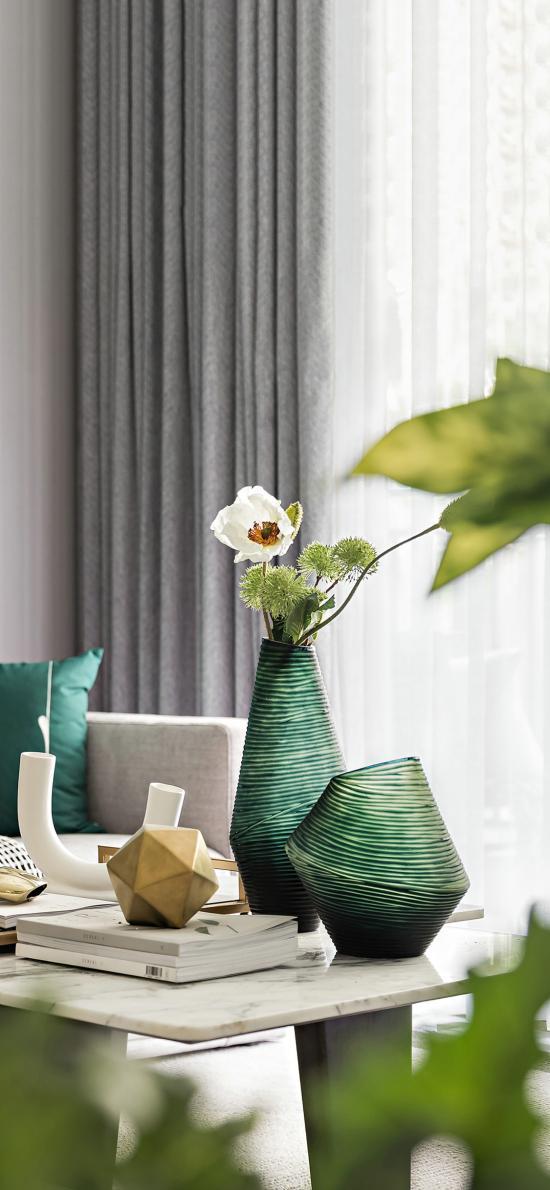 家居 摆设 鲜花 花瓶 静物