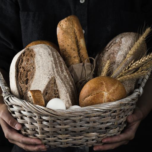 面包 烘烤 编织篮 法式