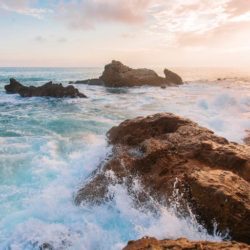 海浪 海水 天空 礁石