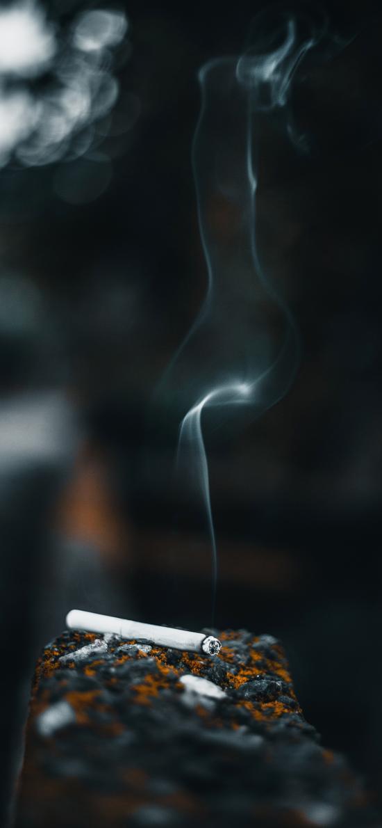 香烟 点燃 烟雾 尼古丁