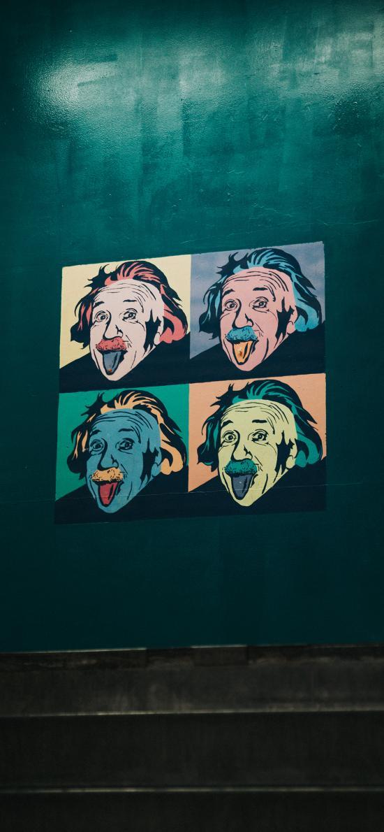 墙绘 科学家 爱因斯坦 艺术