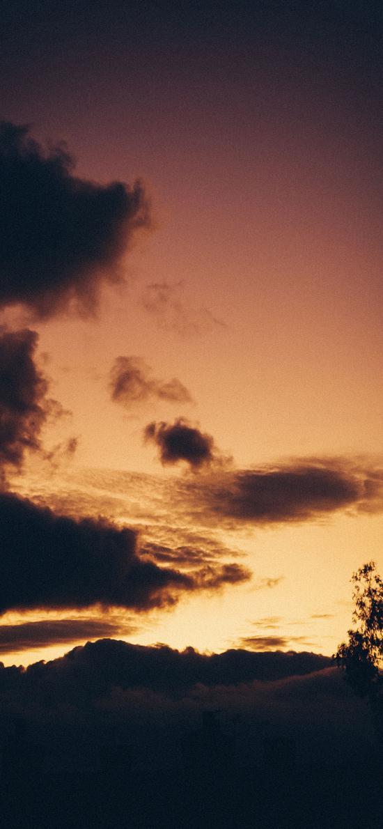 云空 乌云 晚霞 自然