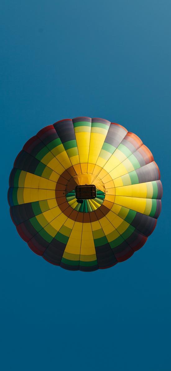 藍天 熱氣球 懸空 娛樂