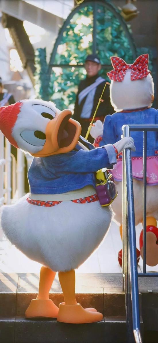 迪士尼 動畫 唐老鴨 玩偶