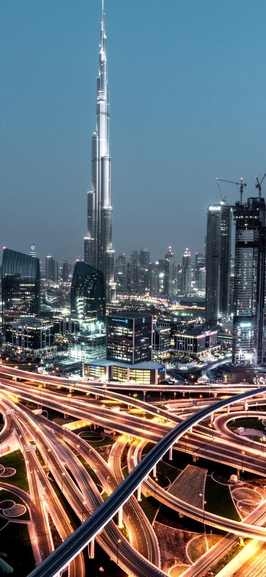 城市 建筑 繁华 车道 纵横交错