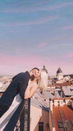 情侣 写真 拥吻 爱情