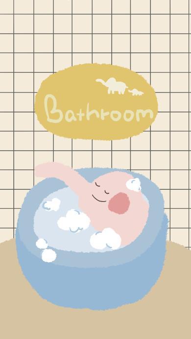 浴室 bathroom 洗浴 卡通