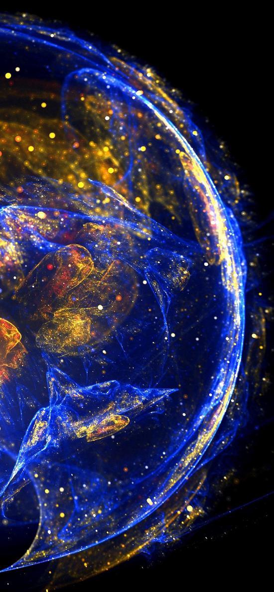 水母 海洋生物 浮游 熒光 炫彩