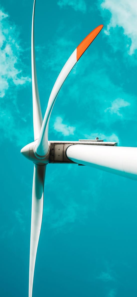 風車 風力發電機 天空 機械
