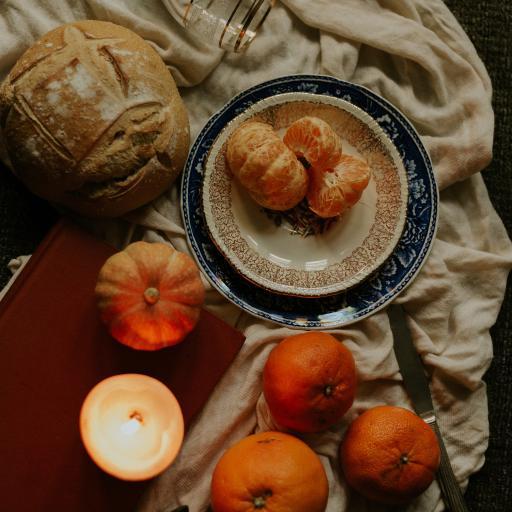 橘子 桔子 柑橘 水果 蜡烛 南瓜