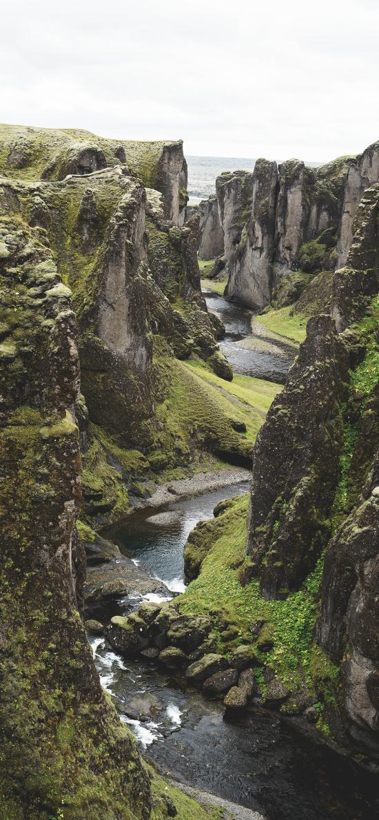 峡谷 河谷 河流  自然