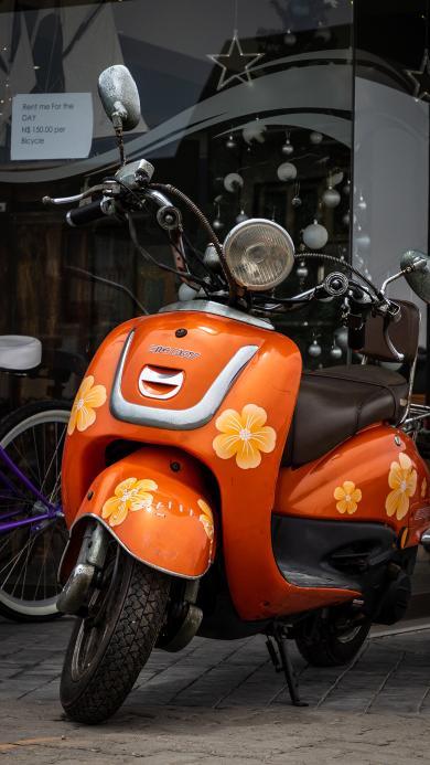 摩托车 小绵羊 印花 代步