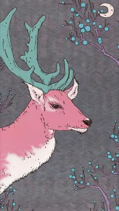 插图 小鹿 粉色 (取自微博:_magua)