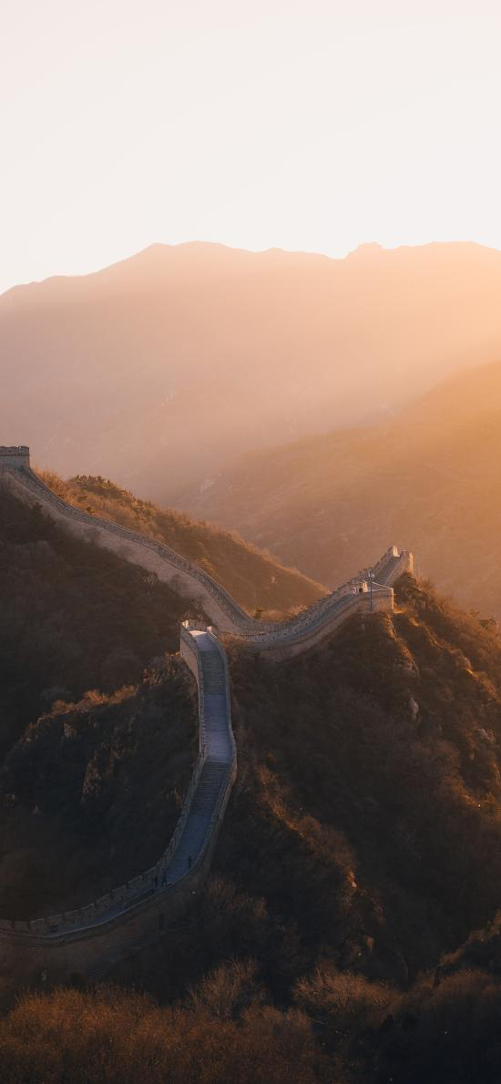 建筑 地標 萬里長城 中國