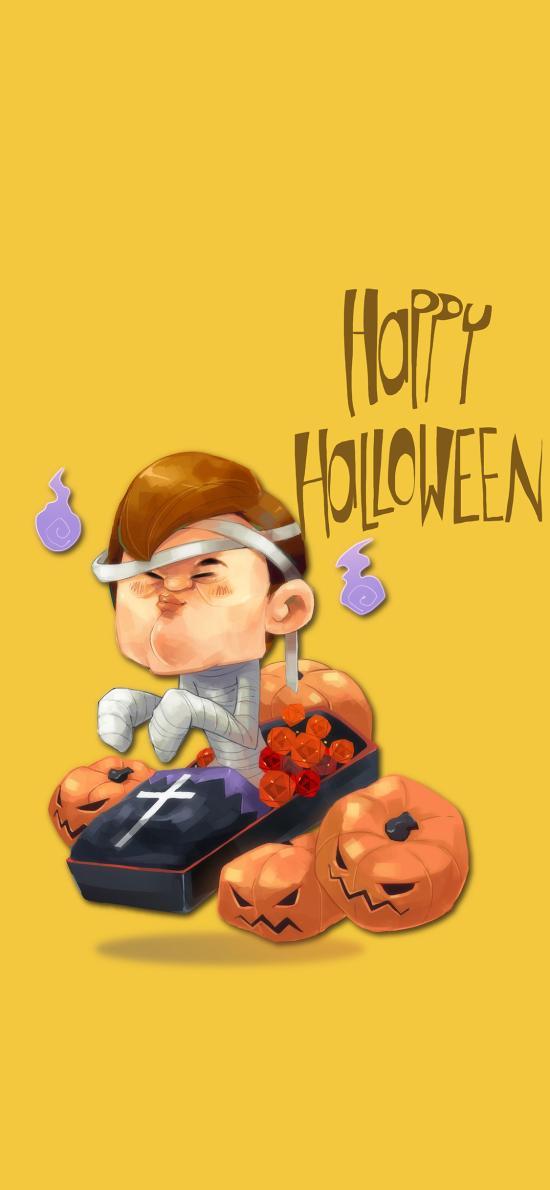 萬圣節 Happy Halloween 插畫 朋友(取自站酷網:阿迷子Yang)