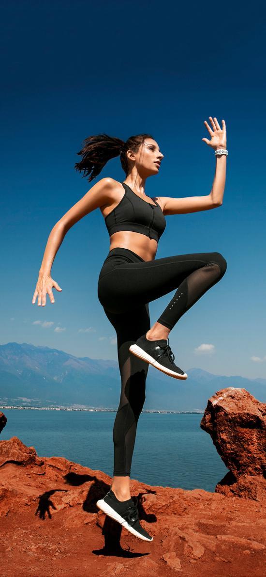 健身 欧美女孩 有氧运动