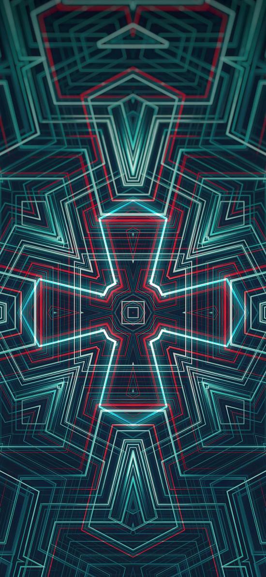 炫彩 线条 科技 几何