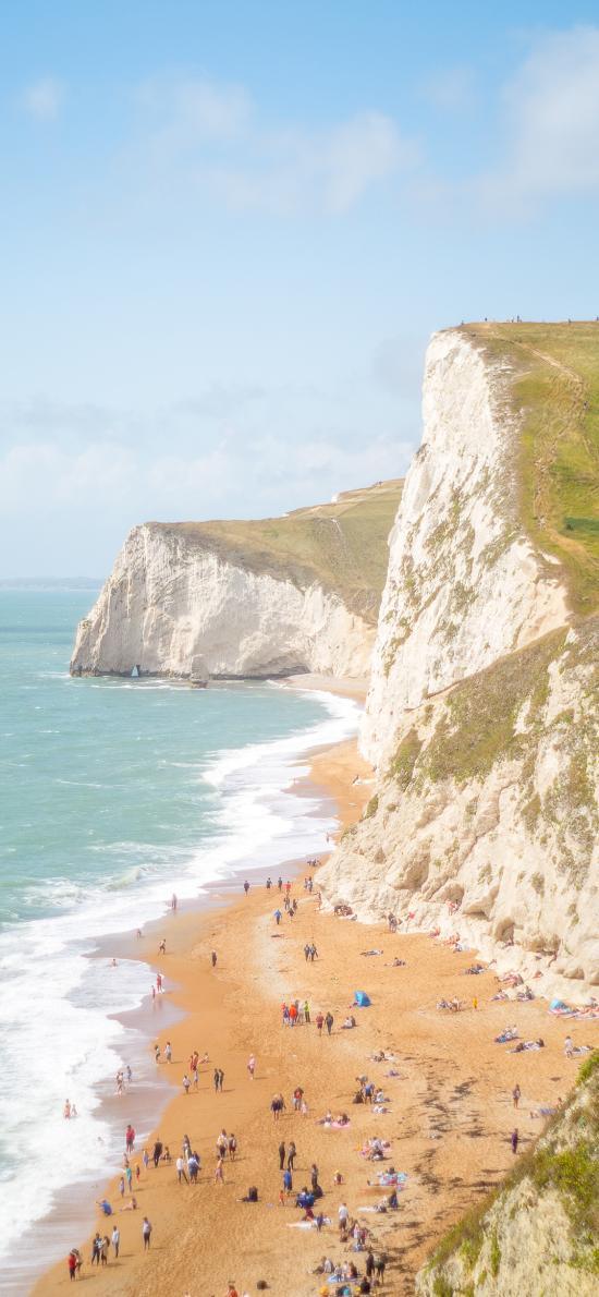 海岸 海邊 沙灘 峭壁