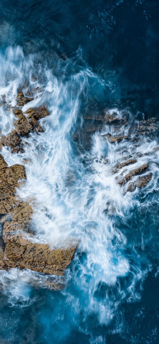 大海 海水 浪花 翻涌