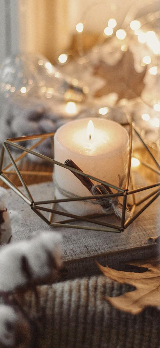 蜡烛 烛火 棉花 烛台