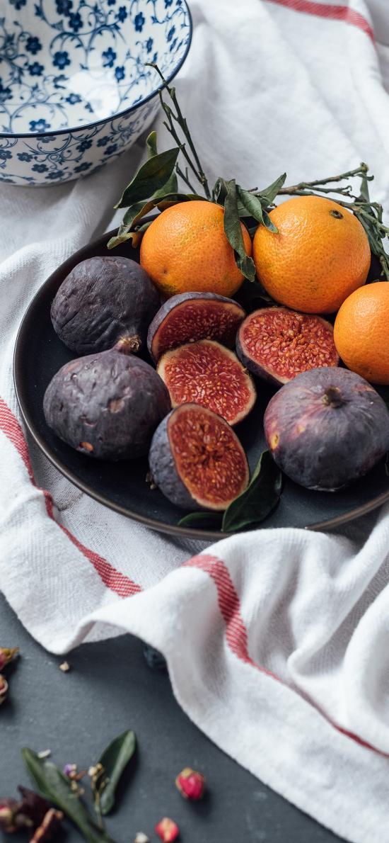 水果 橙 无花果 新鲜
