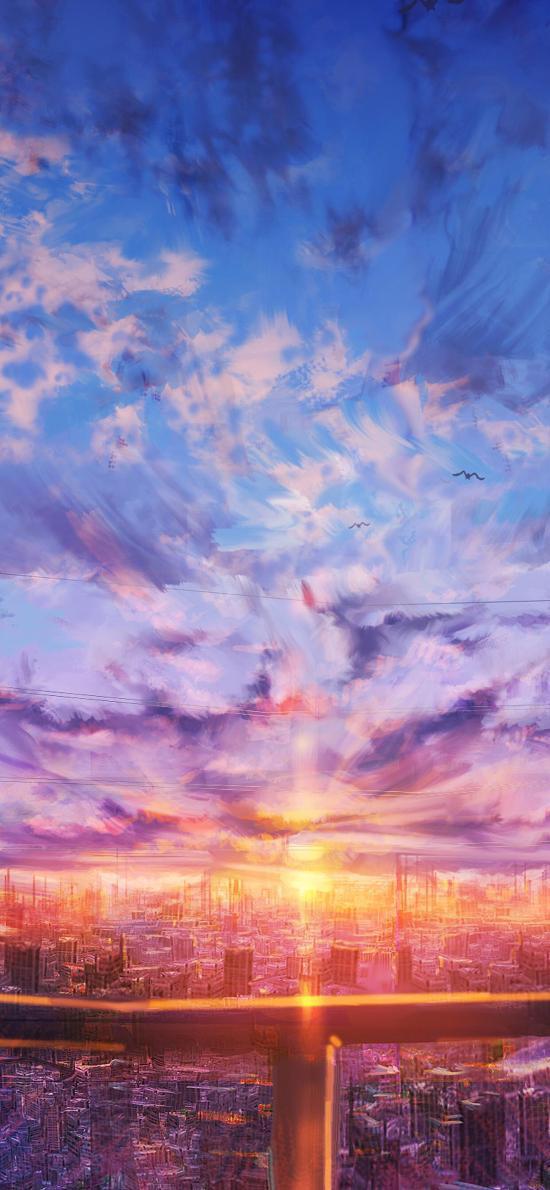 彩绘 日漫 天空 唯美