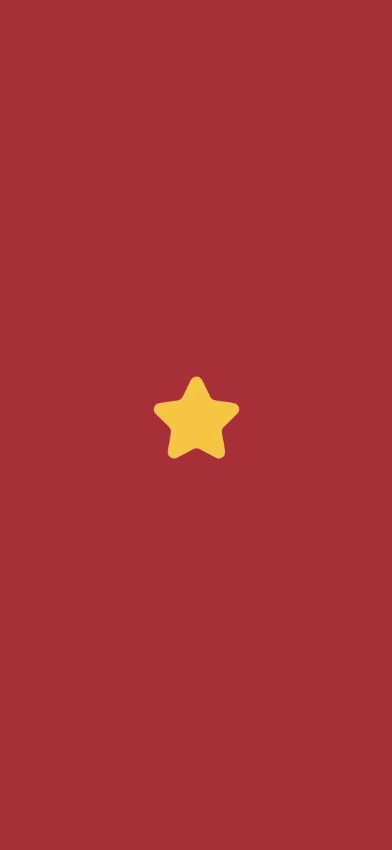 五角星 简约 星星 红