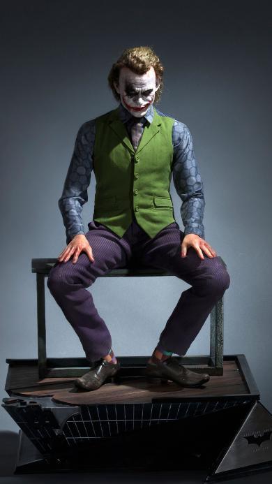 电影 黑暗骑士 小丑 Joker 全身雕像