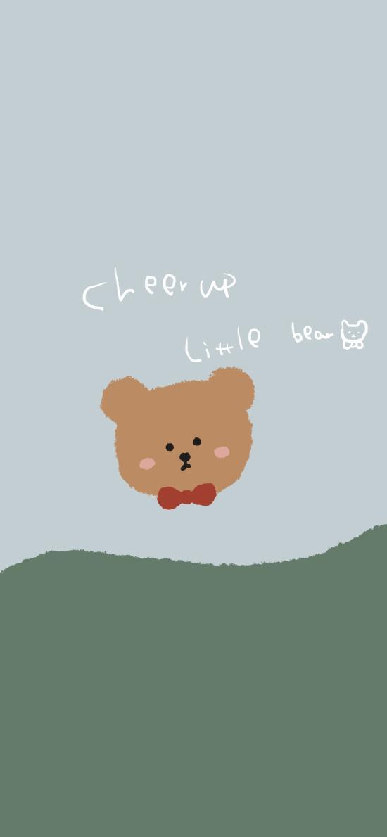 小熊 cheer up 卡通 欢呼